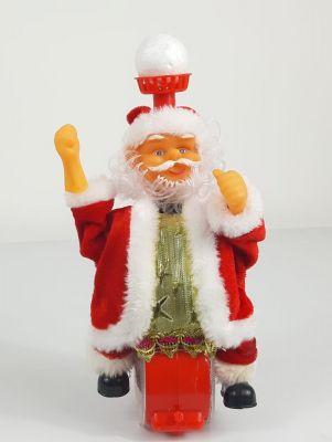 Babbo Natale in movimento con luci e musica  natalizia