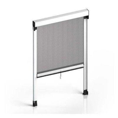 Zanzariera a rullo per porta finestra Orizzontale 100x160 alluminio riducibile bianco
