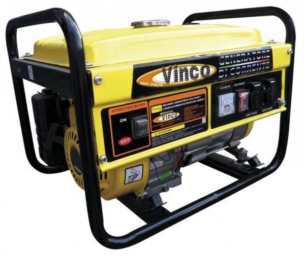 Generatore di corrente VINCO 60122 BDLEC3000 benzina gruppo elettrogeno 2,5 KW