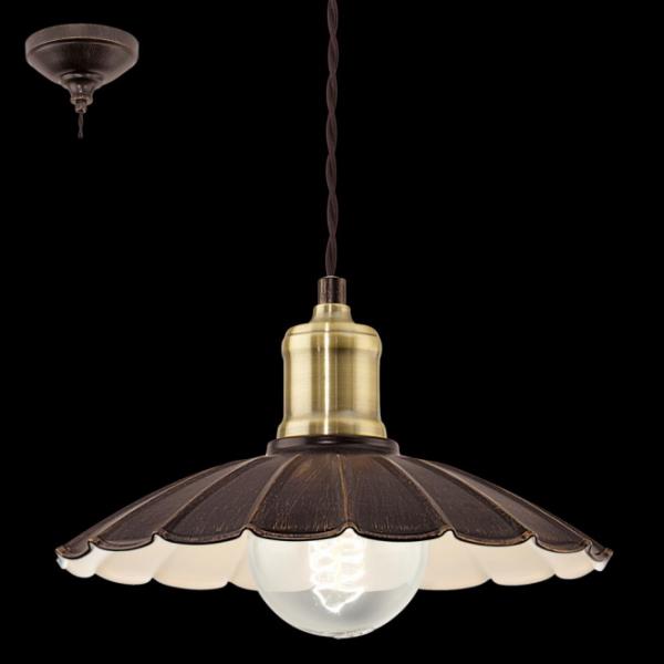 EGLO LAMPADA A SOSPENSIONE IN ACCIAIO DORATO 25X110 cm