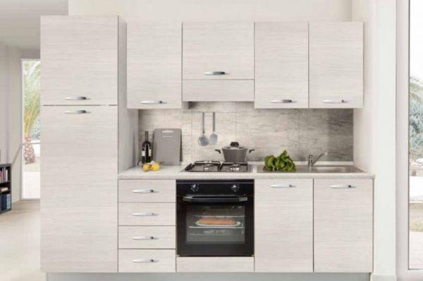 CUCINA RONNY FINELINE CREME-cucina bloccata:2,55 mt 2,16h