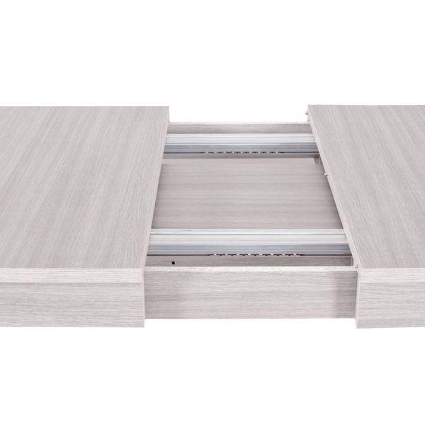 Tavolo Moderno Super allungabile 160x90 bianco frassinato