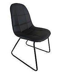 Sedia in metallo verniciato Adele nero