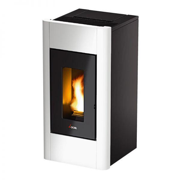 STUFA A PELLET CADEL SWEET 3 BIANCO riscaldamento ambienti casa uffici caldo
