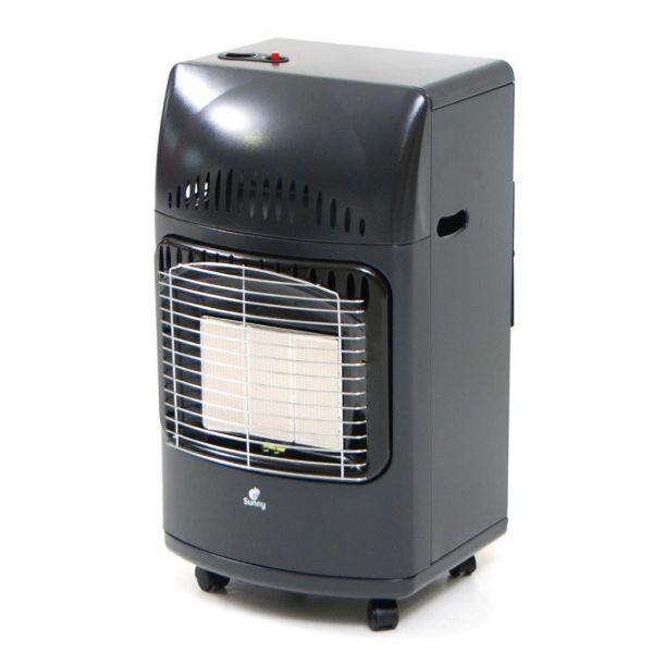 Stufa a gas infrarossi con raggi infrarossi e con ruote stufa ad infrarossi gas con regolazione di potenza nera