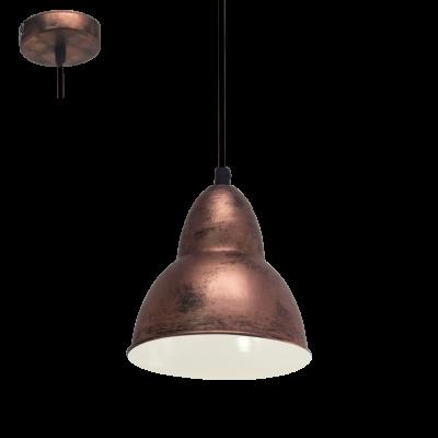 EGLO LAMPADA A SOSPENSIONE IN ACCIAIO COLOR RAME15,5X110cm
