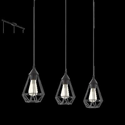 EGLO LAMPADA A SOSPENSIONE IN ACCIAIO NERO 17,5X110 cm
