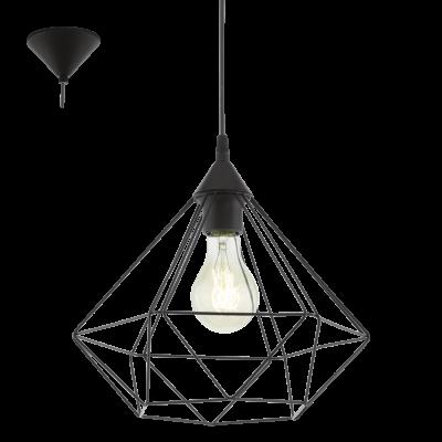 EGLO LAMPADA A SOSPENSIONE IN ACCIAIO NERO 32,5X110 cm