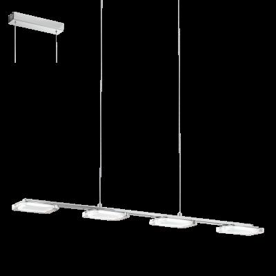 EGLO LAMPADA A SOSPENSIONE IN ACCIAIO CROMATO E PLASTICA 78X9cm