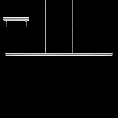 EGLO LAMPADA A SOSPENSIONE IN ALLUMINIO E ACCIAIO CROMATO 97X7cm