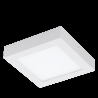 EGLO SPOT LED CON LEGA METALLICA BIANCA E PLASTICA 17X17 cm