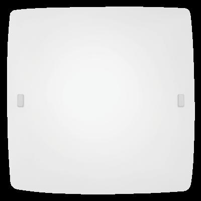 EGLO LAMPADA DA PARETE IN ACCIAIO BIANCO E VETRO SATINATO BIANCO 41X41cm