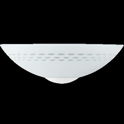 EGLO LAMPADA DA PARETE IN ACCIAIO BIANCO E VETRO SATINATO CON MOTIVI 30X15 cm