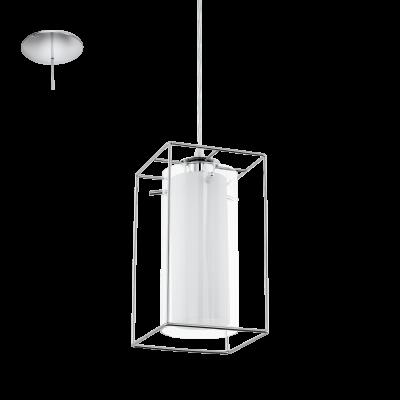 EGLO LAMPADA A SOSPENSIONE IN ACCIAIO CROMATO E VETRO SATINATO 15X110cm