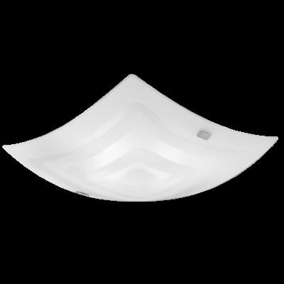 EGLO LAMPADA DA PARETE IN METALLO E VETRO BIANCO 41X9,5cm