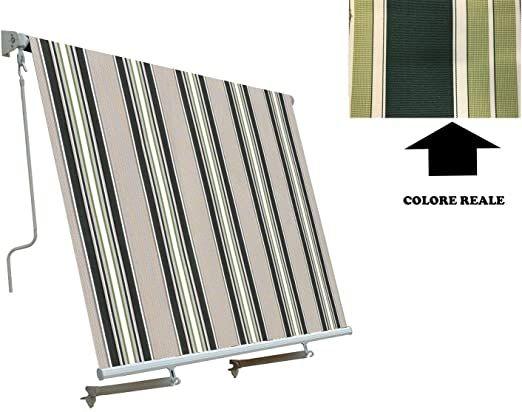 Verdelook Tenda Sole Itaca Inclinazione Fissa Sporgenza  4 x 2,5 m beige e verde