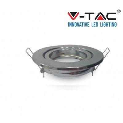 PORTA FARETTI LED SPOTLIGHTS FITTING VT-7227 cromo