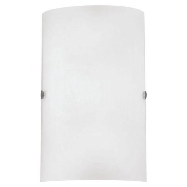 EGLO LAMPADA DA PARETE IN ACCIAIO COLOR NICKEL OPACO E VETRO SATINATO 18X25 cm