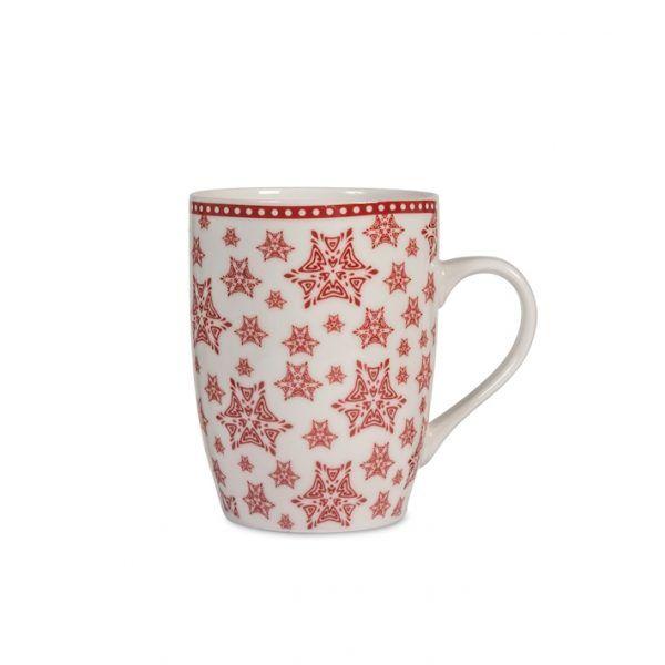Mug 35cl Tazza da latte decorazione natalizia rossa