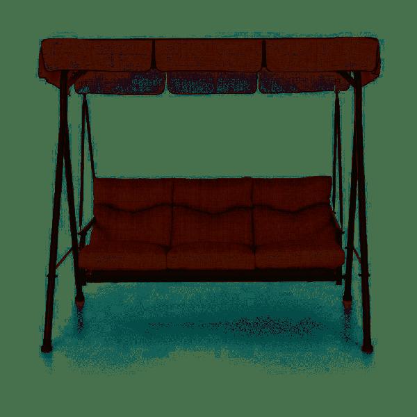 Dondolo divano Madagascar  beige 3 posti arredo giardino o terrazzo