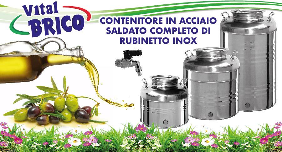 offerta fusti inox per olio